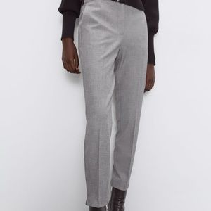 NWT ZARA grey Trousers Jogger waist MADE IN TURKEY